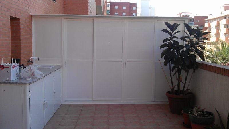 Armarios aluminio exterior terraza top latest affordable - Armarios para terrazas ...